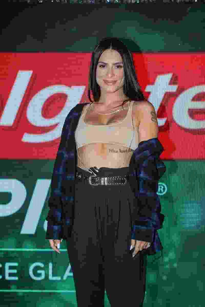 Cleo Pires em estande no Rock in Rio 2017 - Marcello Sá Barretto/AgNews