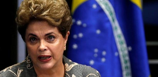 Dilma Rousseff durante sessão no plenário do Senado, em agosto de 2016