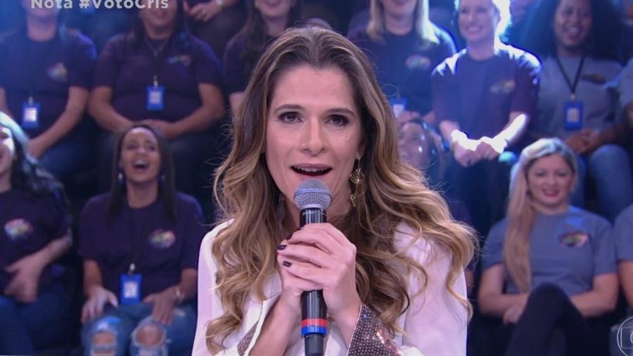 Ingrid Guimarães soltou um palavrão ao elogiar Cris Vianna - Reprodução/TV Globo
