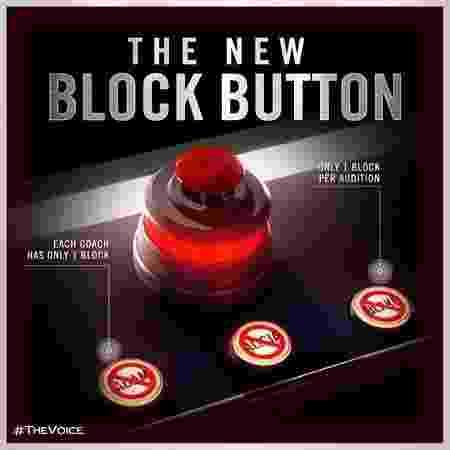 """""""Block Button"""", novidade que será usada na 14ª temporada do """"The Voice"""" dos Estados Unidos - Divulgação - Divulgação"""