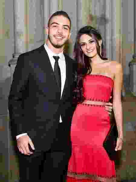 Ronald foi acompanhado com a namorada, Luiza Basile, ao casamento de Lexa e Guimê - Manuela Scarpa/Brazil News