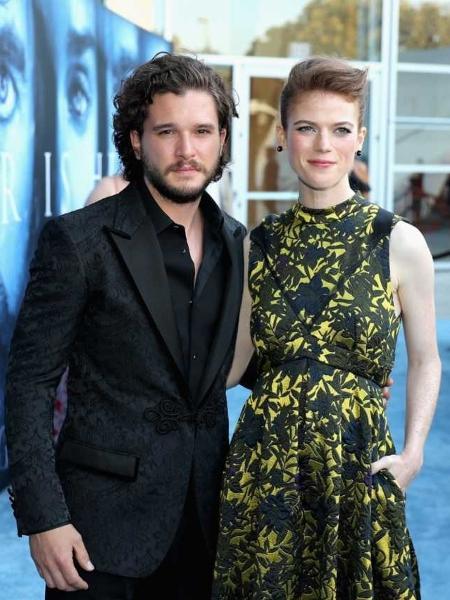 """Kit Harington e Rose Leslie na pré-estreia da sétima temporada de """"Game of Thrones"""" - Neilson Barnard/Getty Images/AFP"""