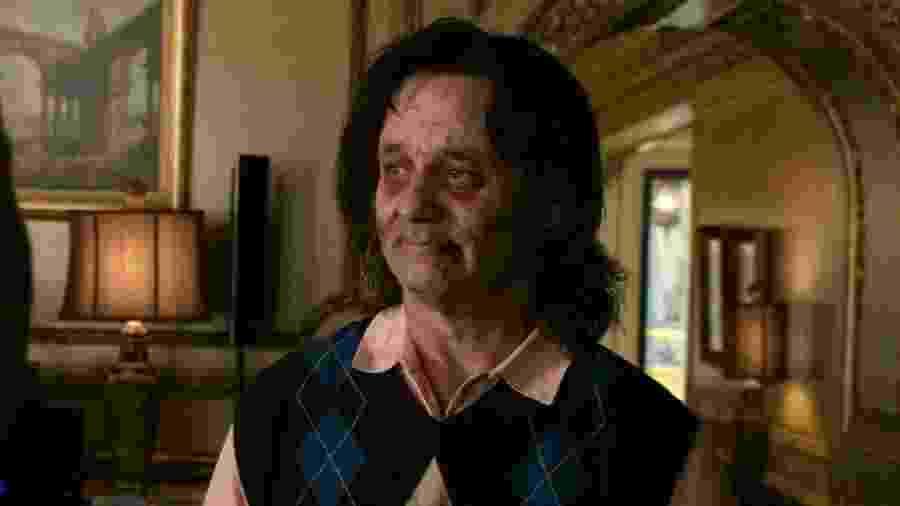 """Bill Murray em cena de """"Zumbilândia"""" - Reprodução"""