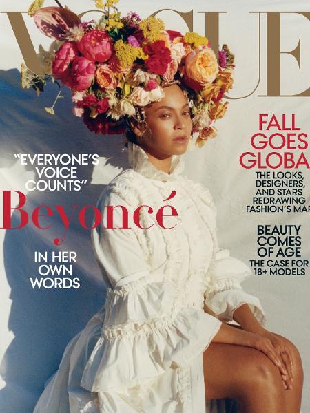 """Beyoncé posa para a capa da """"Vogue"""" de setembro de 2018 - Divulgação"""