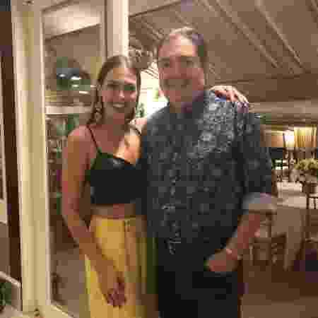 Rachel Drodowsky com Fausto Silva; ela lamenta não ter se despedido do apresentador - Reprodução/Instagram - Reprodução/Instagram