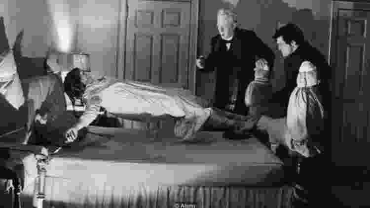 """""""O Exorcista"""" recebeu 10 indicações ao Oscar, incluindo melhor filme, em 1974, apesar de todo sangue e profanação - ALAMY Image caption  - ALAMY Image caption"""