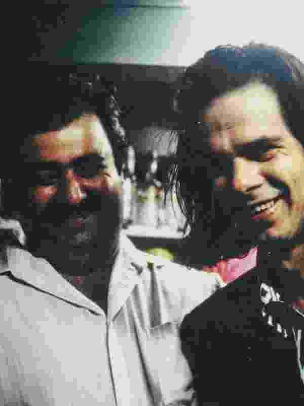 Nick e Pedro na Mercearia. Foto: Arquivo Pessoal