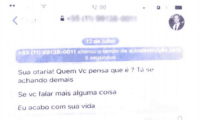 Reprodução conversa Eduardo Bolsonaro e Patrícia - Reprodução - Reprodução