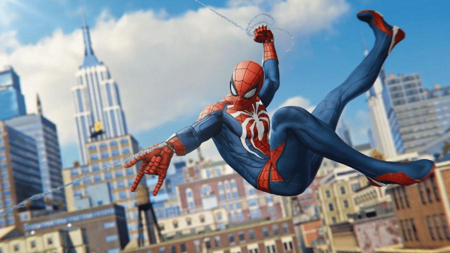 """Cena do game """"Spider-Man"""", para o Ps4 - Reprodução"""