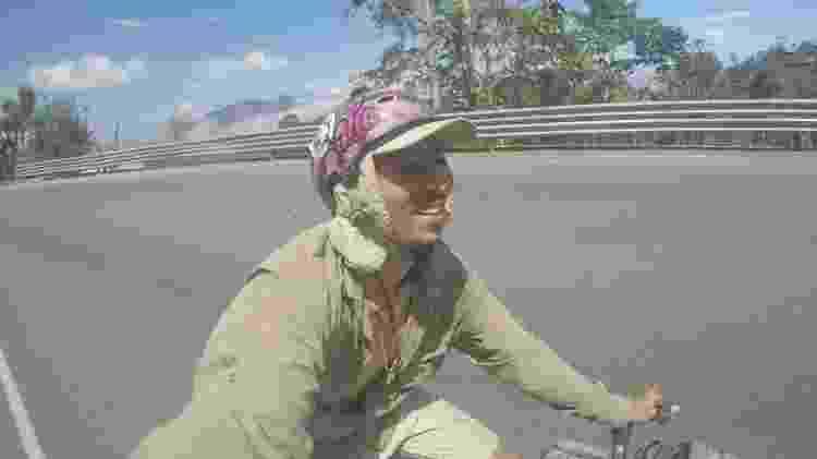 Luis Cunha, 26, encarou 8 países e 8 estados brasileiros em cima de sua bike - Arquivo pessoal