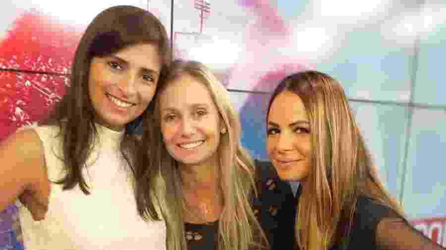 """Thais Baffini. Dadá Vieira e Renata Saporitto, apresentadoras do """"Ace BandSports"""" - BandSports"""