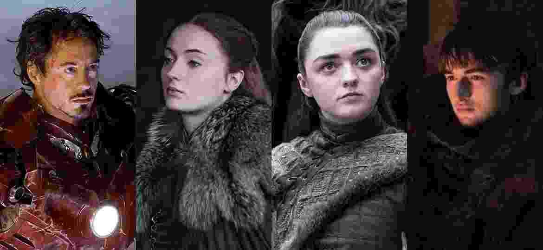 Tony, Sansa, Arya e Bran: qual dos Starks deve morrer em abril?  - Divulgação e Montagem/UOL