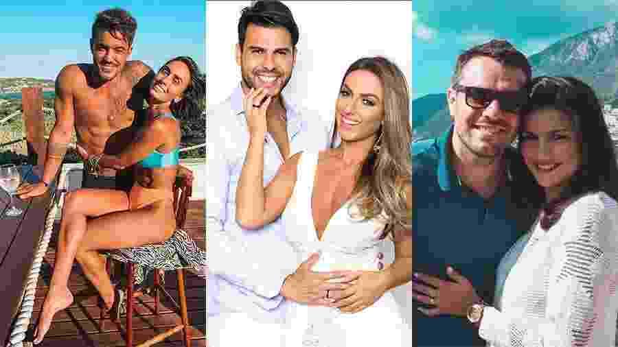 Clara e André Coelho, Nicole Bahls e Marcelo Bimbi e Mariana Felício e Daniel Saullo - Reprodução/Instagram