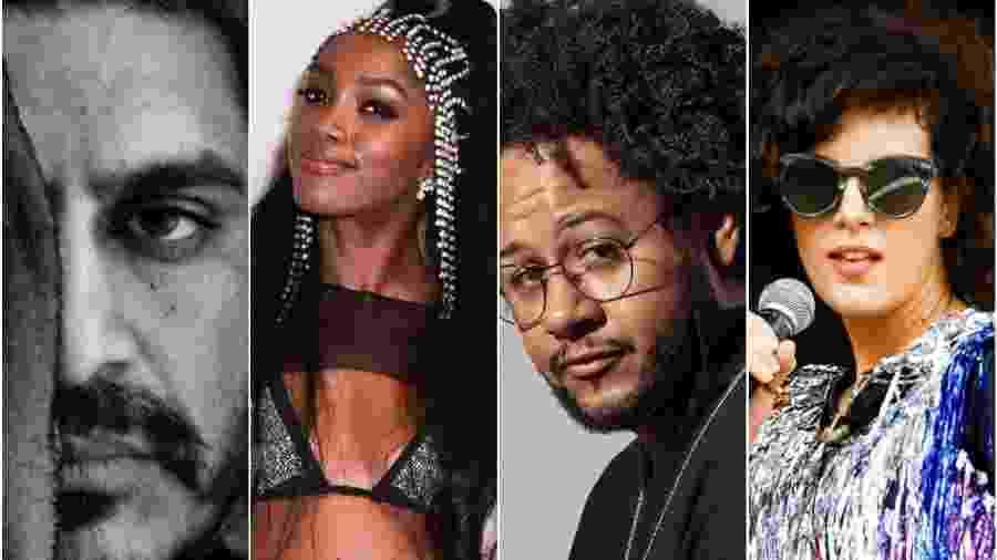 Criolo, Iza, Emicida e Céu estão entre os finalistas do Music Video Festival 2019 - Montagem