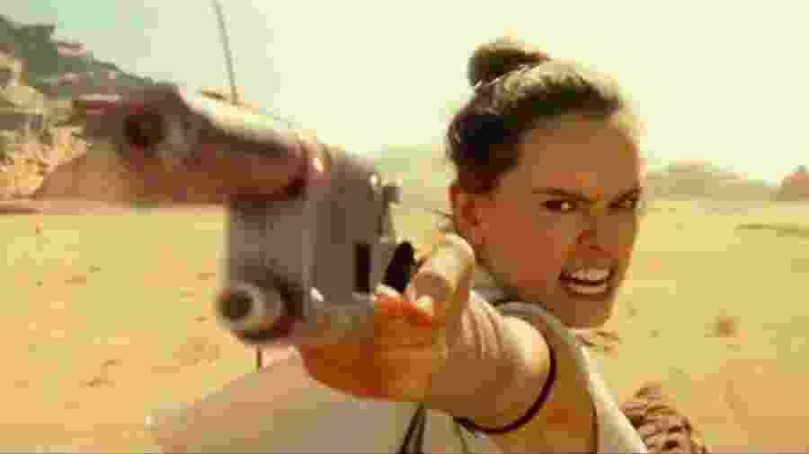 Rey em cena de ação de Star Wars: a Ascensão Skywalker  - Reprodução