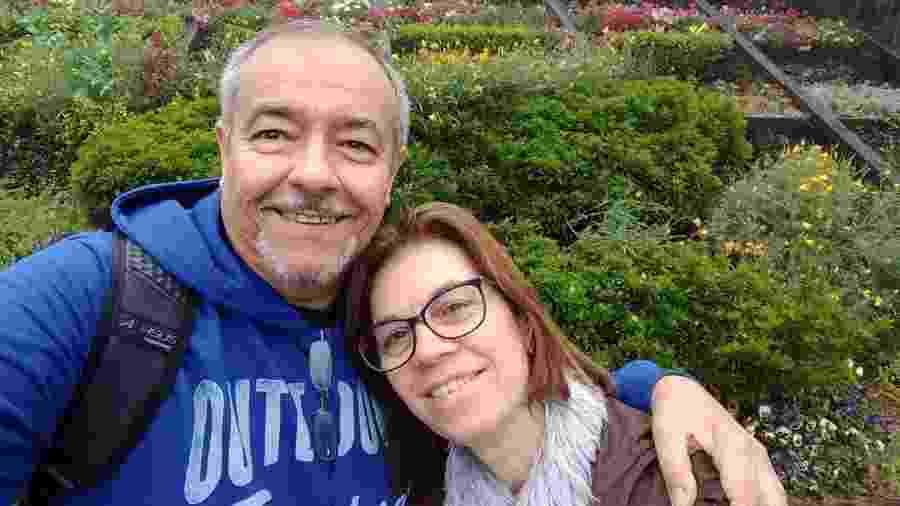 Paulo de Faria Filho com a mulher; há 10 anos, ele teve a Síndrome de Guillain-Barré - Arquivo pessoal