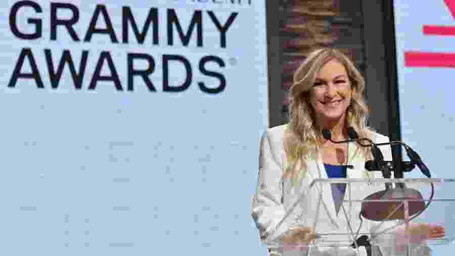 Deborah Dugan, presidente da Recording Academy - Angela Weiss / AFP