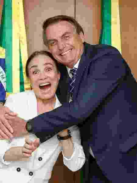 Regina Duarte com Jair Bolsonaro - Reprodução/Instagram