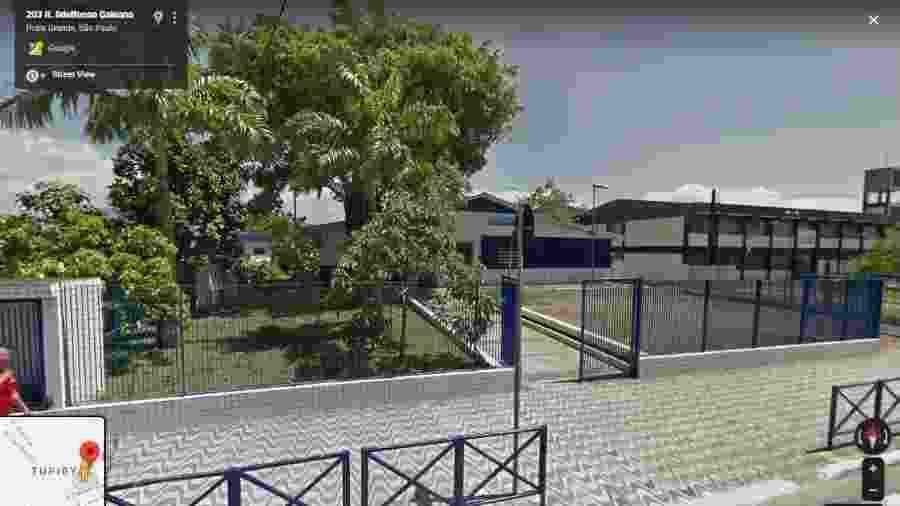 A Escola Municipal Doutor Roberto Shoji, na Praia Grande, litoral de São Paulo - Reprodução/Google Maps