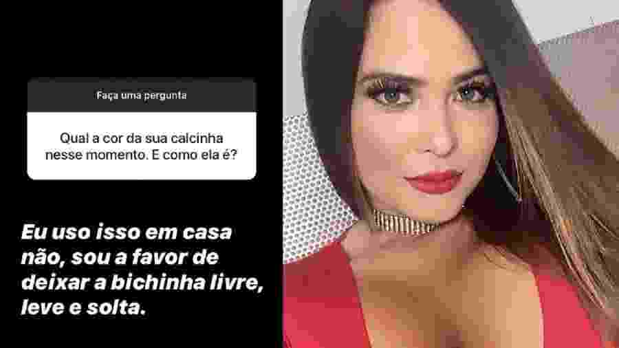 Geisy Arruda confessa não usar lingeries em casa - Reprodução/Instagram