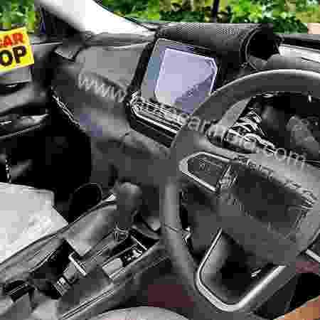 Imagem vazada do interior do Jeep Compass 2021 - Autocar India
