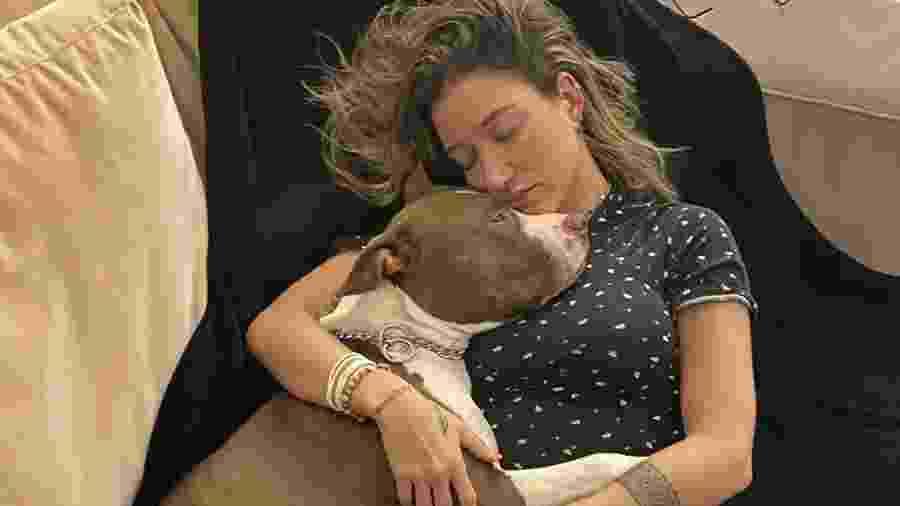 Gabriela Pugliesi publicou fotos com o cachorro, Buda - Reprodução/Instagram
