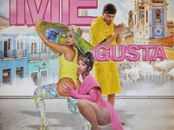 Capa do single 'Me Gusta', de Anitta com Cardi B