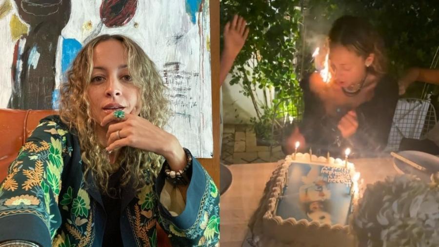 Nicole Richie queima o cabelo ao cantar parabéns - Reprodução/Instagram