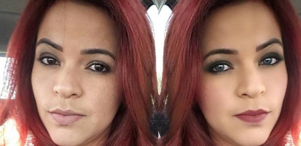 O app You Cam Make Up reconhece regiões do rosto e faz maquiagem virtual - Reprodução/Instagram/@thassiaarouca