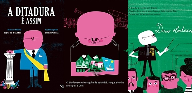 """Capa e primeiras páginas do livro """"A Ditadura É Assim"""" - Reprodução"""