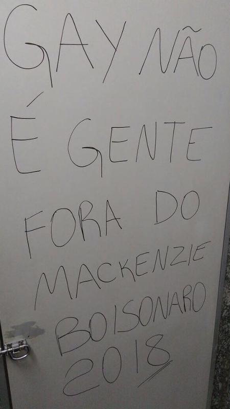 Pichação Mackenzie - Reprodução/Facebook