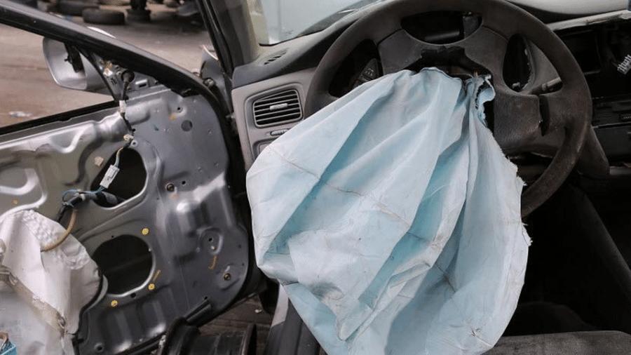 Airbag deflagrado da fabricante Takata - Joe Raedle/AFP - 21.5.2015