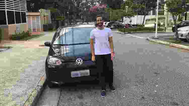 Matheus Quelhas, dono de um Volkswagen take up! - Acervo pessoal - Acervo pessoal