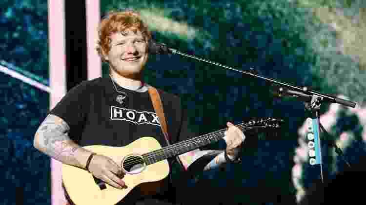 Ed Sheeran canta em show no Allianz Parque, em São Paulo - Manuela Scarpa/Brazil News - Manuela Scarpa/Brazil News