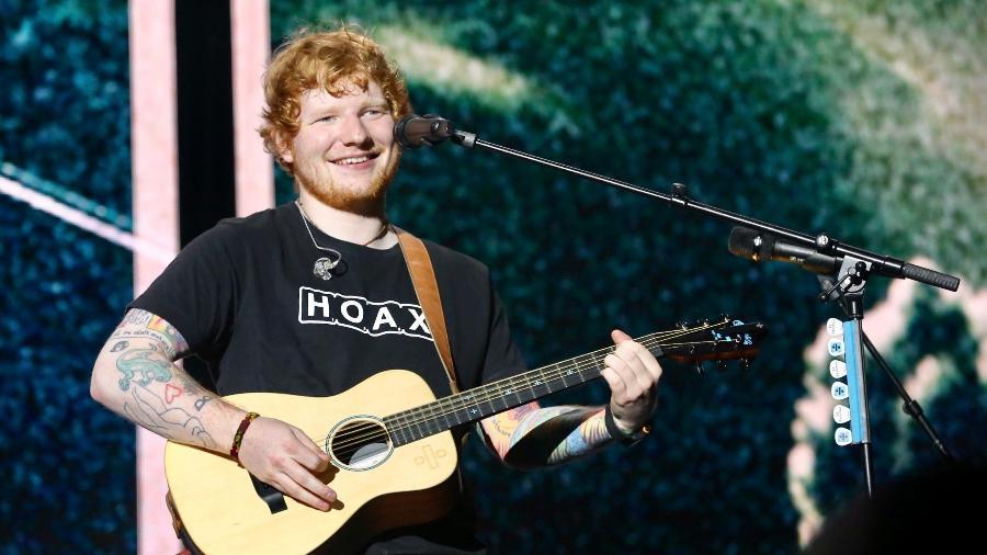 Ed Sheeran canta em show no Allianz Parque, em São Paulo - Manuela Scarpa/Brazil News