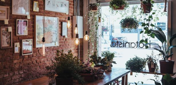 A Botanista é uma mistura de loja de arte e plantas, café e bar: um achado