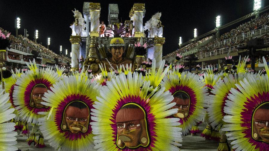 Desfile da São Clemente no Carnaval de 2018 - Júlio César Guimarães/UOL