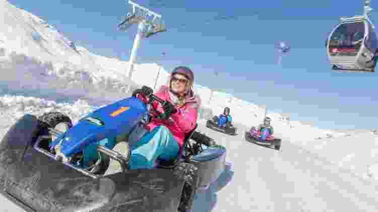 Corrida de kart no gelo - C. Cattins/Val Thorens - C. Cattins/Val Thorens