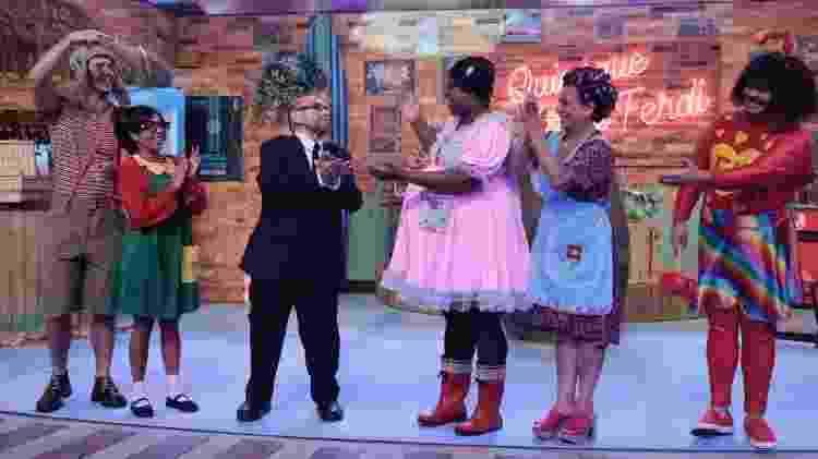 """Edgar Vivar (Sr. Barriga) grava homenagem de """"Vai que Cola"""" a """"Chaves"""" no Multishow - Juliana Coutinho/Multishow - Juliana Coutinho/Multishow"""