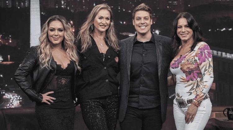 Tânia Mara, Adriana Colin, Porchat e Débora Rodrigues - Edu Moraes/Record TV/Divulgação - Edu Moraes/Record TV/Divulgação