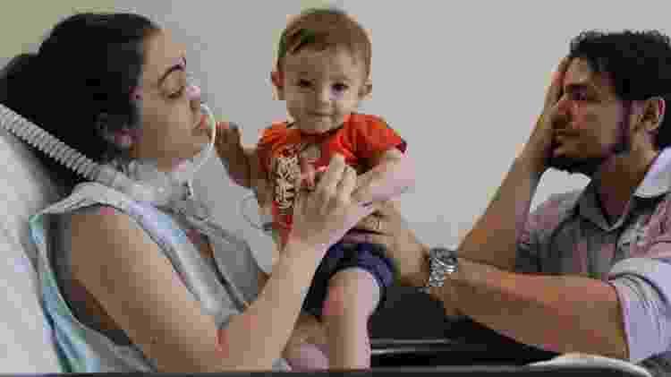 Michele encontra o filho Henrique - Reprodução/Facebook/Hospital de Base Rio Preto - Reprodução/Facebook/Hospital de Base Rio Preto