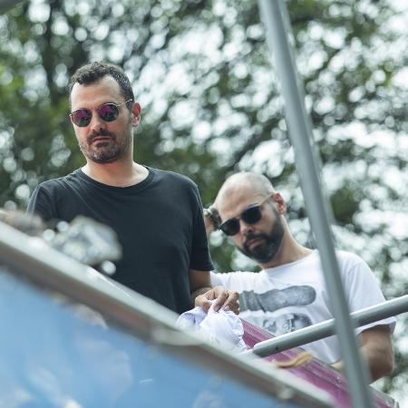 Secretário de cultura Alê Youssef e o prefeito Bruno Covas ontem, no Casa Comigo - Marcelo Justo/UOL