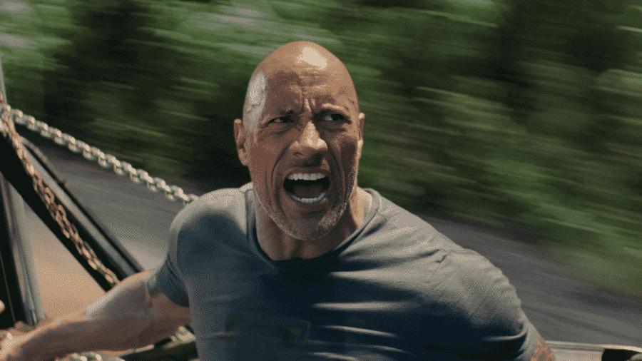 """Dwayne """"The Rock"""" Johnson em cena de Velozes & Furiosos: Hobbs & Shaw - Reprodução"""