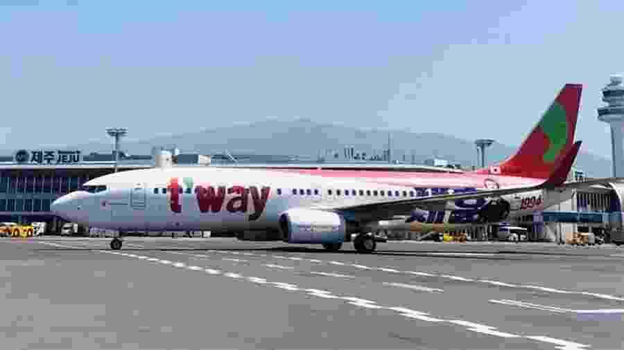"""Aeronave da companhia T""""way Air - Reprodução/Instagram/@twayair"""