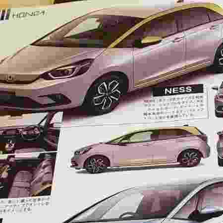 Flagra do Honda Fit no catálogo do Salão de Tóquio - Reprodução