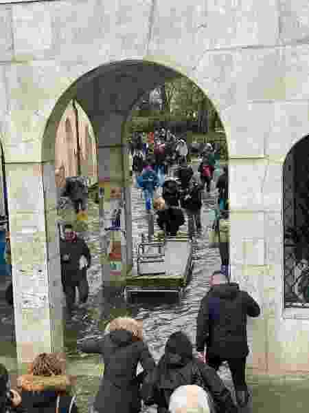 Inundação em Veneza, novembro 2019 - Leandro Anhold Zaffalon/Arquivo pessoal - Leandro Anhold Zaffalon/Arquivo pessoal