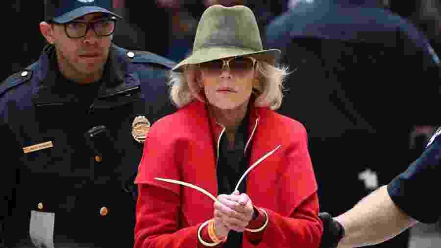 A atriz Jane Fonda é detida pela polícia norte-americana - Mandel NGAN / AFP