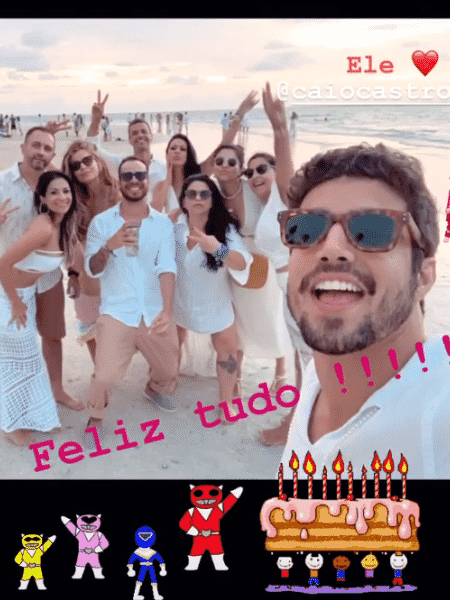 Grazi posta imagem de aniversário para Caio Castro - Reprodução/Instagram