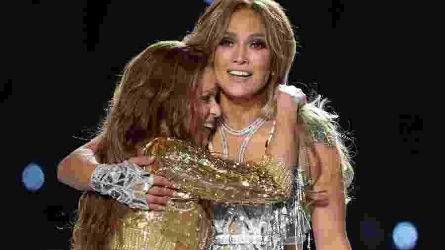 Shakira e Jennifer Lopez se apresentam no Super Bowl 54 - REUTERS/Mike Blake