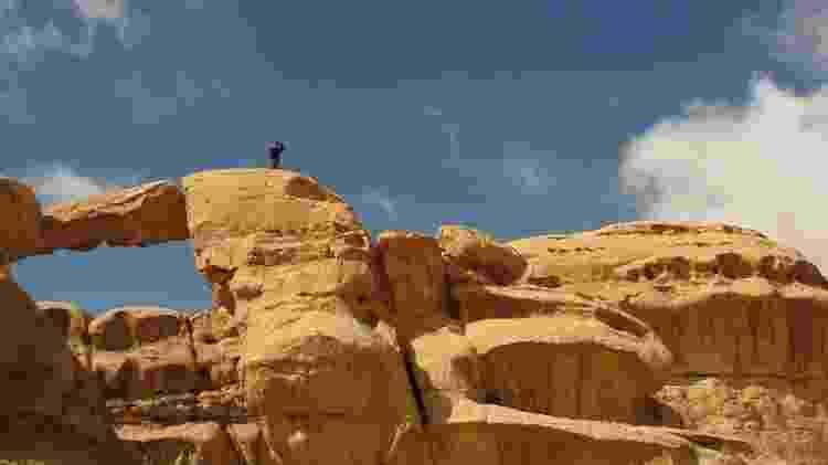 Wadi Rum - Ponte de Pedra - Marcel Vincenti/Arquivo pessoal - Marcel Vincenti/Arquivo pessoal